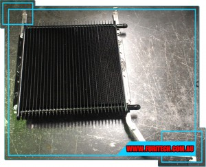 PWR Cooler & Brackets fitted on Furious Performance Ford Territory Transmission Heat Exchanger Bypass Oil Cooler Kit