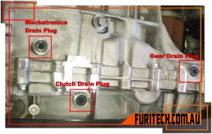 GETRAG 6DCT MPS6 Dual Clutch Transmission Drain Plug Location